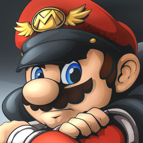 Mario as M Bison